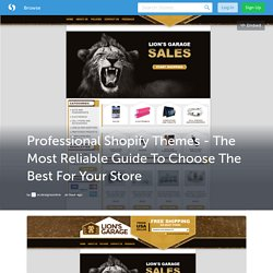 Professional Shopify Themes - The Most Reliable Guide To Choose The Best For Your Store
