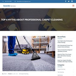 Top 6 Myths About Professional Carpet Cleaning