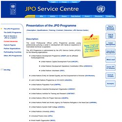 Junior Professional Officer Service Centre