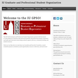 IU GPSO   Indiana University Graduate and Professional Student Organization