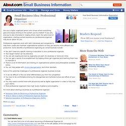 Small Business Idea: Professional Organizer