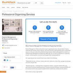 Professional Organizing - Restore Management - Charleston, SC