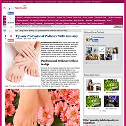 Professional Pedicure with 6-step|Beauty Tips