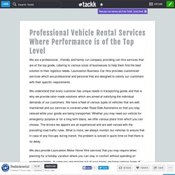 Professional Vehicle Rental Services Where Performance is of the Top Level