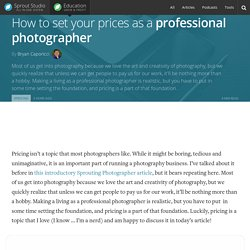 How to set your pricing as a professional photographer in business