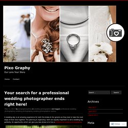 Your search for a professional wedding photographer ends right here!