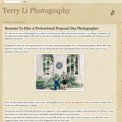 Hire A Professional Proposal Day Photographer