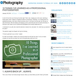 10 Things I've Learned as a Professional Photographer