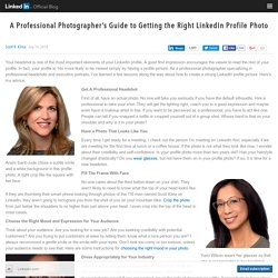 A Professional Photographer's Guide to Getting the Right LinkedIn Profile Photo