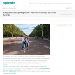 Find professional photographers near me? Incredibly easy with Splento!