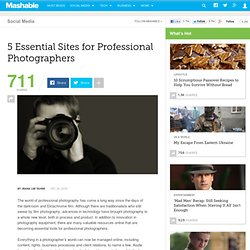 5 Essential Sites for Professional Photographers