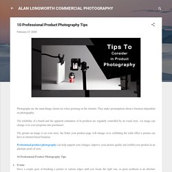 10 Professional Product Photography Tips