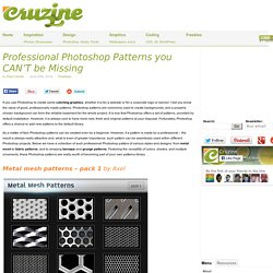 Professional Photoshop Patterns you CAN'T be Missing