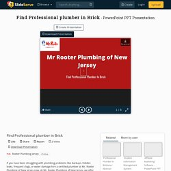 Find Professional plumber in Brick PowerPoint Presentation, free download - ID:10317719