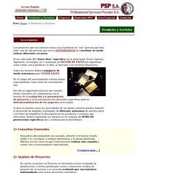 Professional Services Provider - Productos y Servicios