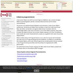 Excel 2013 Professional - 6 Makros programmieren - TEIA AG