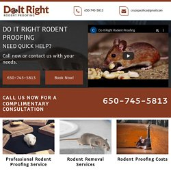 Do It Right, Professional Rodent Proofing Services Oakland CA