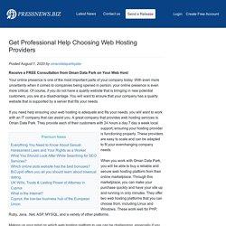 Get Professional Help Choosing Web Hosting Providers
