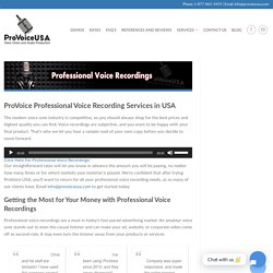 Professional Voice-Over Recordings