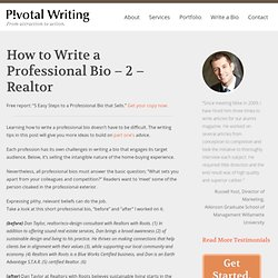 How to Write a Professional Profile – 2