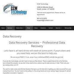 Professional Data Recovery Services in South Jordan, Utah.