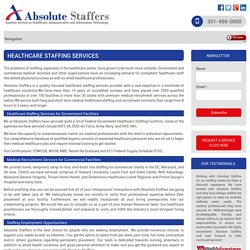 Professional Healthcare Staffing and Medical Recruitment Services