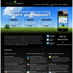 Event Farm :: Professional Online Ticketing and Guest Registration