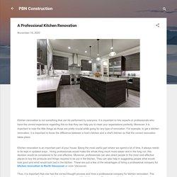 A Professional Kitchen Renovation