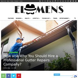 How and Why You Should Hire a Professional Gutter Repairs Company?