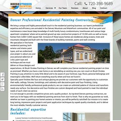 Denver Professional Residential Painting Contractors