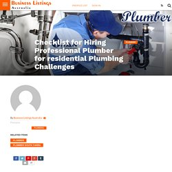 Why Should You Eye on These Points Before selecting Plumber?