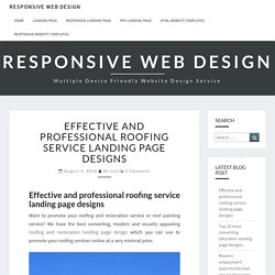 Effective and professional roofing service landing page designs