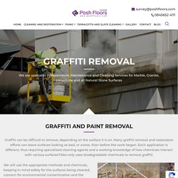 Graffiti removal - Professional Natural Stone restoration Company In UK