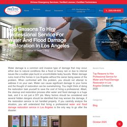Hire Professional Service for Water and Flood Damage Restoration