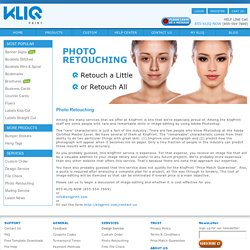 Professional Photo Retouching and Editing at KliqPrint