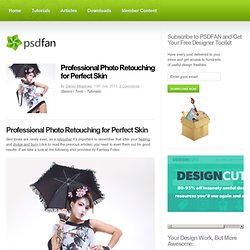Professional Photo Retouching for Perfect Skin