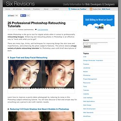 26 Professional Photoshop Retouching Tutorials