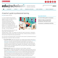 A teacher's guide to professional learning