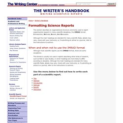 Academic and Professional Writing: Scientific Reports
