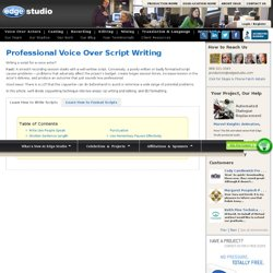 Professional Voice Over Script Writing