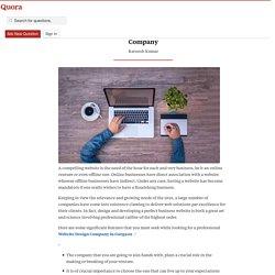 The Criteria to Choose a Professional Web Desig... - SeerOmgea - Quora