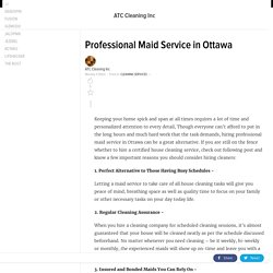 Professional Maid Service in Ottawa