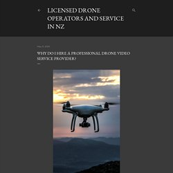 Why Do I Hire A Professional Drone Video Service Provider?