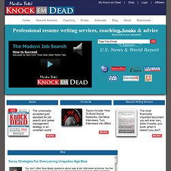 The Official Site of Martin Yate's Knock 'em Dead!