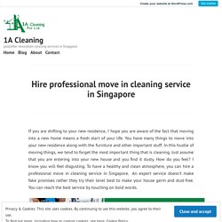 Get Office floor & Move-in cleaning in Singapore
