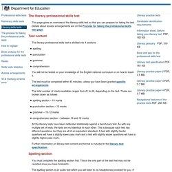 Professional skills tests - Literacy skills tests
