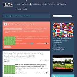 Soccer Passing Drills & Professional Passing Exercises by Pro-SoccerDrills.com - Pro-SoccerDrills.com