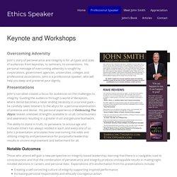 Professional Speaker – Ethics Speaker