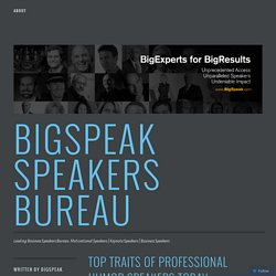 Top Traits of Professional Humor Speakers Today