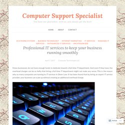 Professional IT services to keep your business running smoothly – Computer Support Specialist